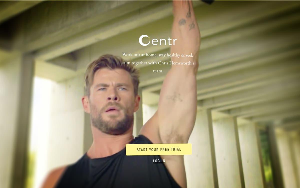 Centr Chris Hemsworth Thor