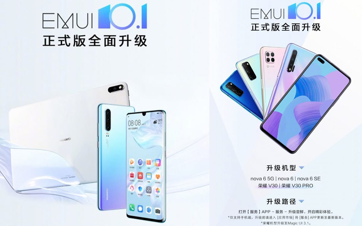 emui 101 huawei honor p30 view 30 - EMUI 10.1: Huawei deploys the update on the P30 and Honor View 30 - PhonAndroid