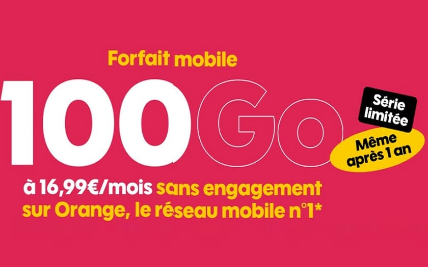 forfait Sosh 100 Go