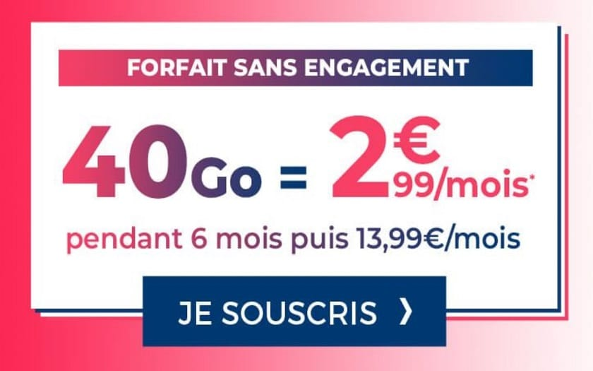 forfait cdiscount 40 Go french days 2020
