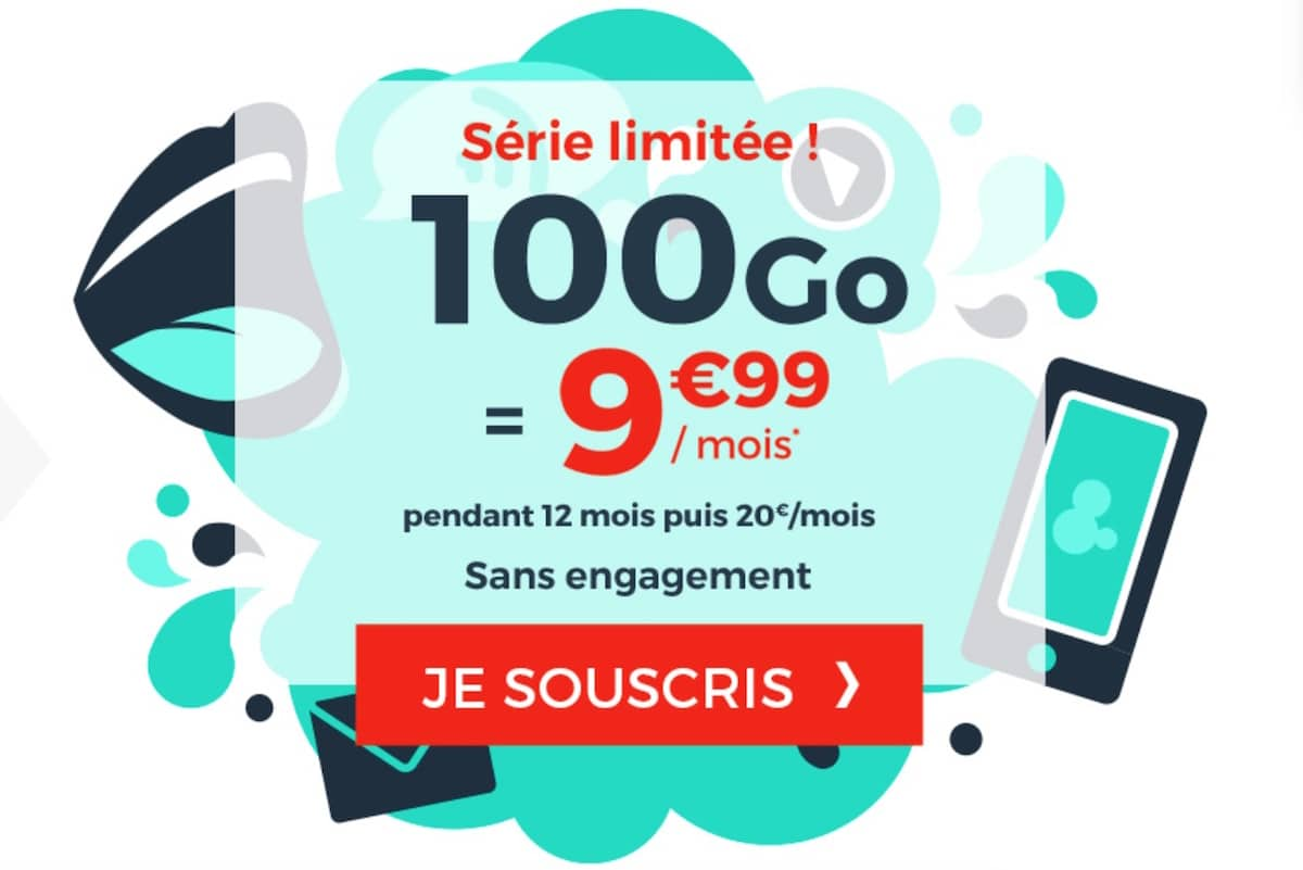 offre forfait cdiscount mobile 100 go