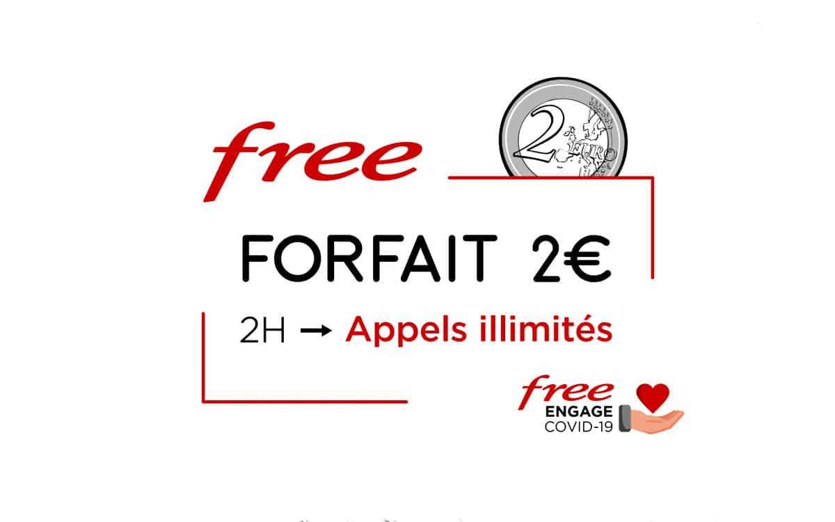 free appel illimité forfait 2 euros