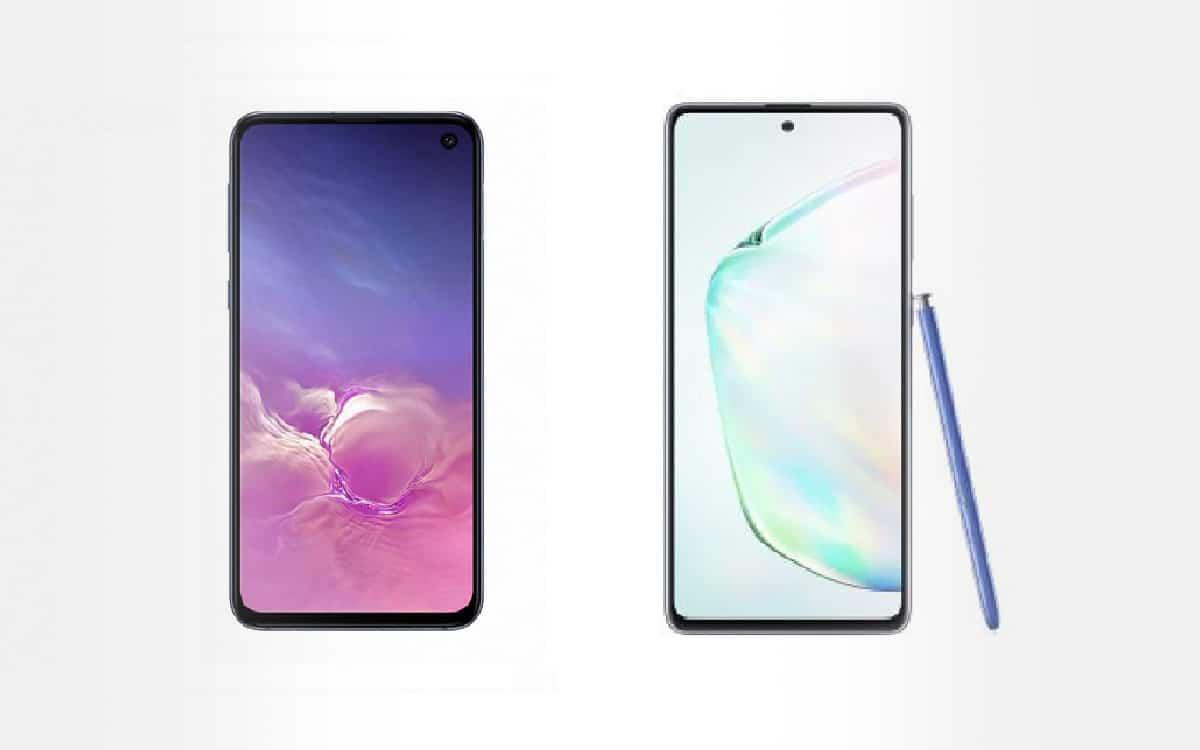 Samsung Galaxy Note 10 Lite et S10e