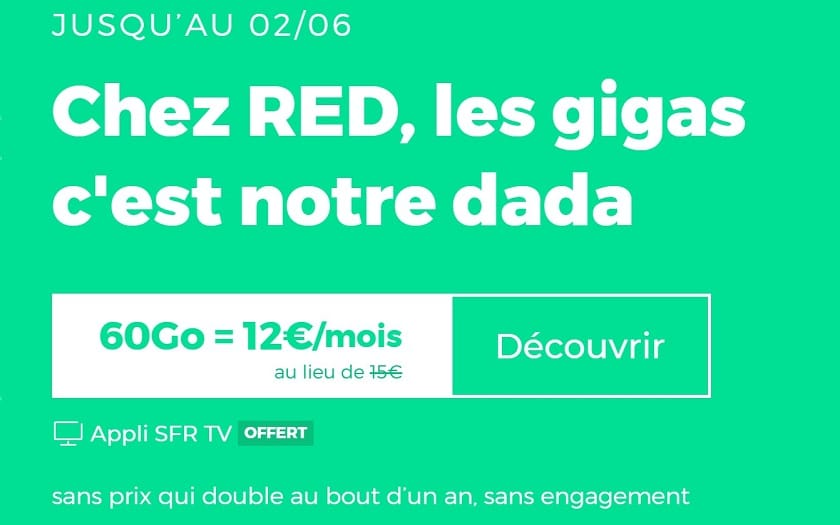 forfait red by sfr 60 Go