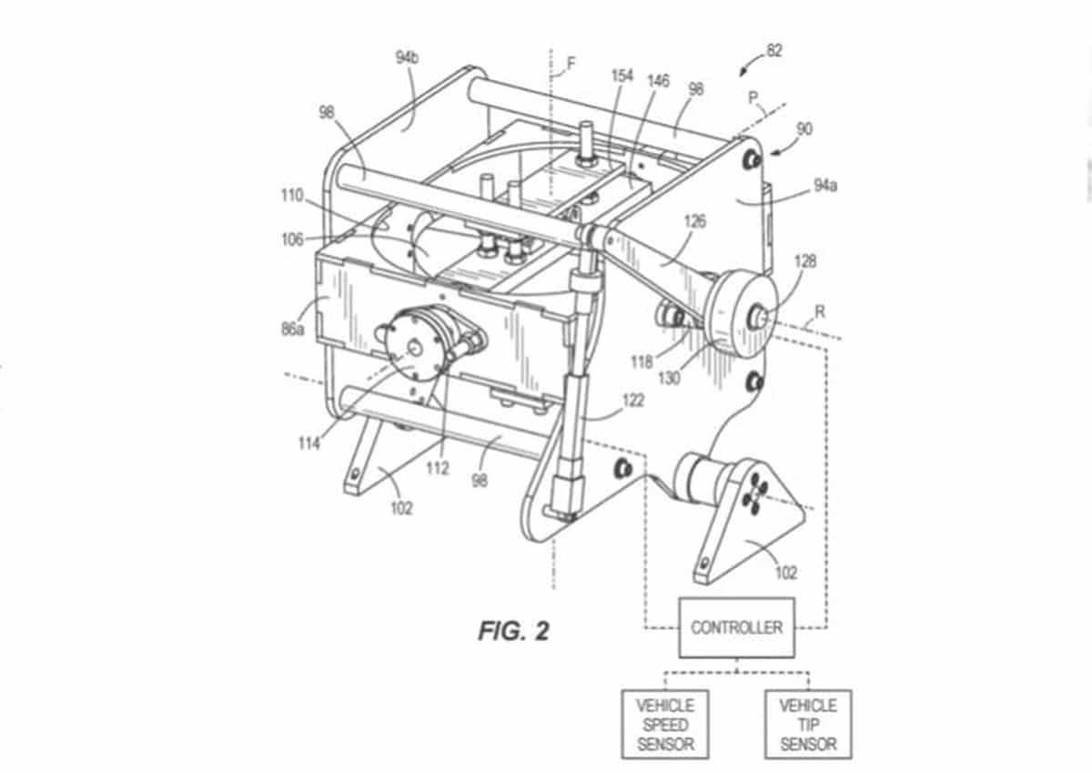 Le brevet déposé par Harley Davidson