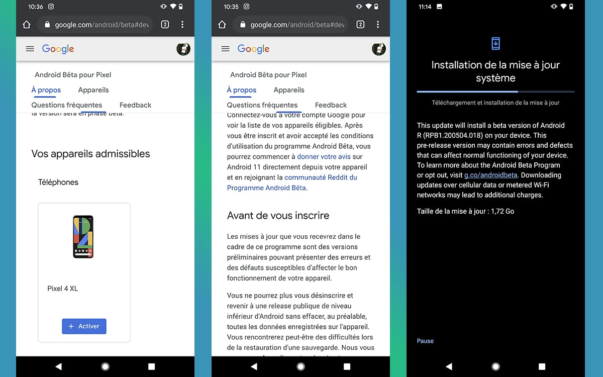 Comment installer Android 11 sur Google Pixel