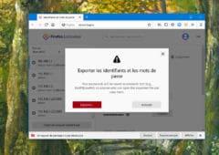 Firefox Exportation Identifiants Mots de Passe