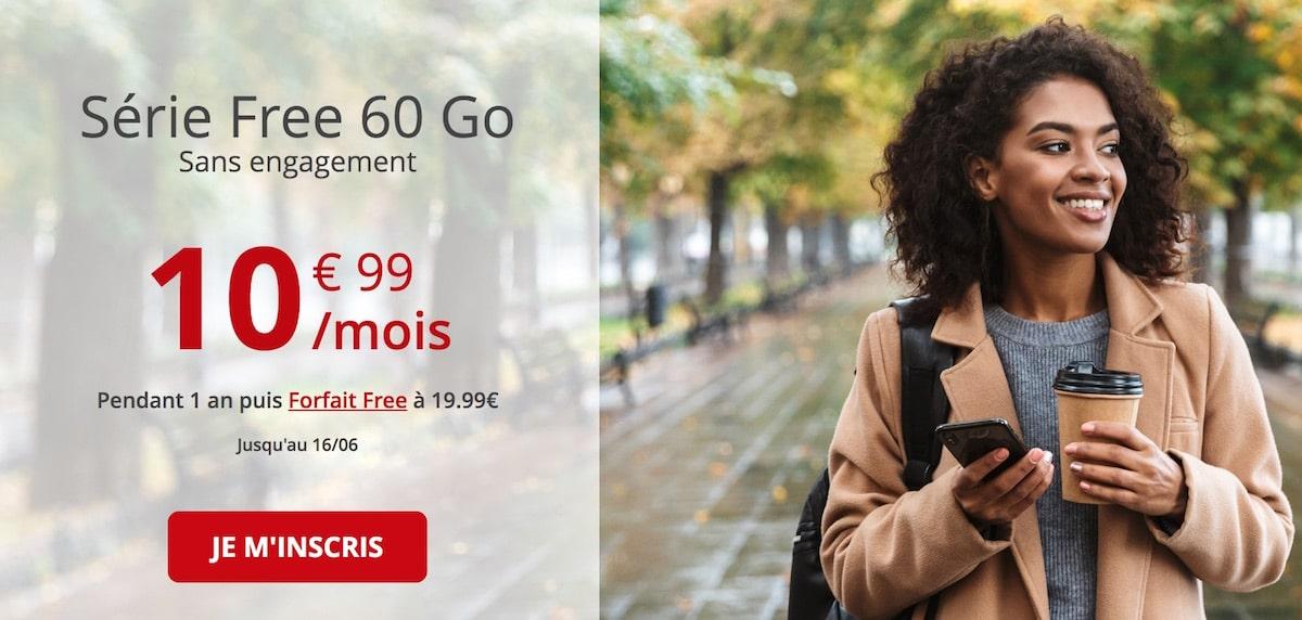 Forfait mobile Série Free 60Go sans engagement