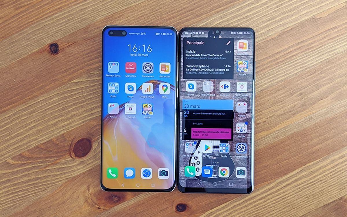 Le Huawei P40 et P30