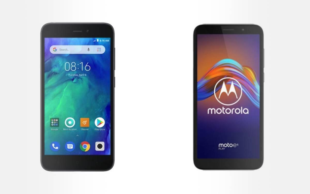 Xiaomi Redmi Go et Motorola E6 Play pour petit budget