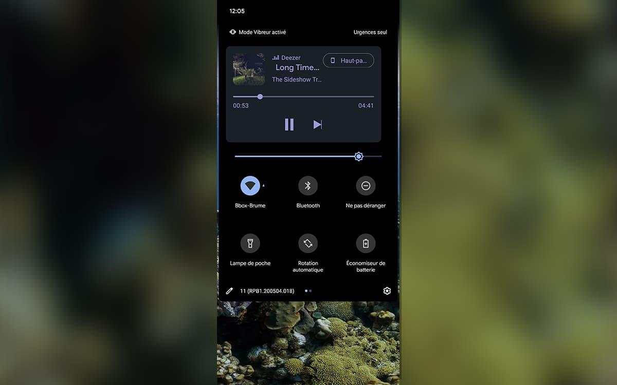 android 11 lecteur multimédia écran verrouillage