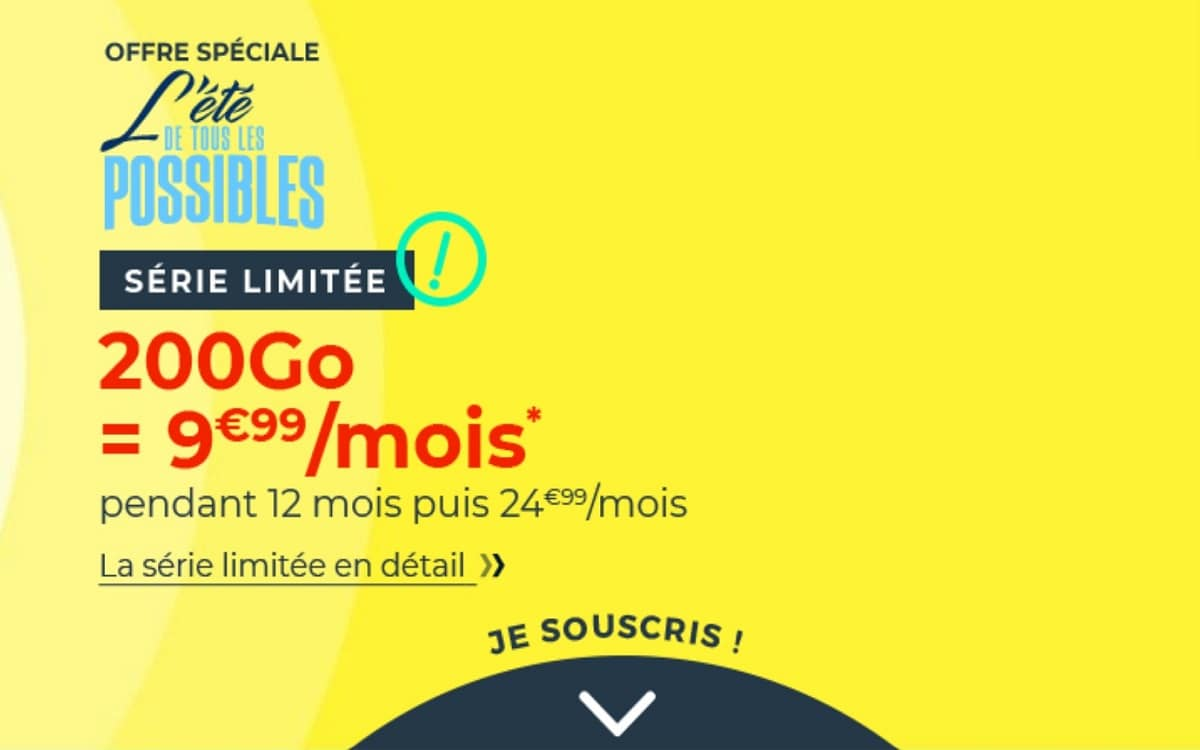 forfait 200 Go cdiscount mobile