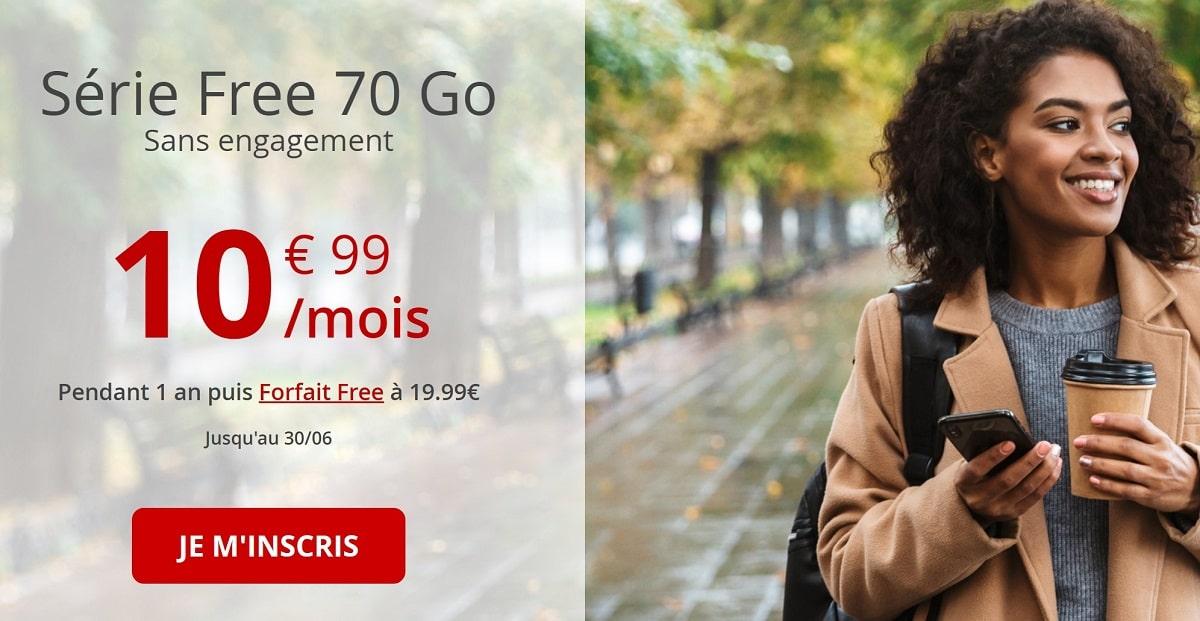 forfait mobile serie free 70 Go