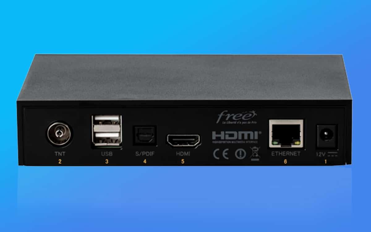 freebox v8 débit free