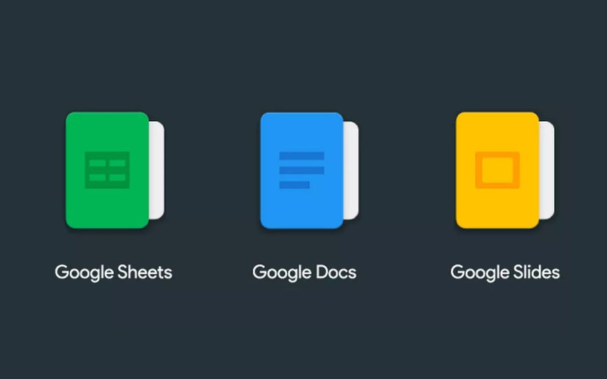 Google Docs, Slides et Sheets : mode sombre