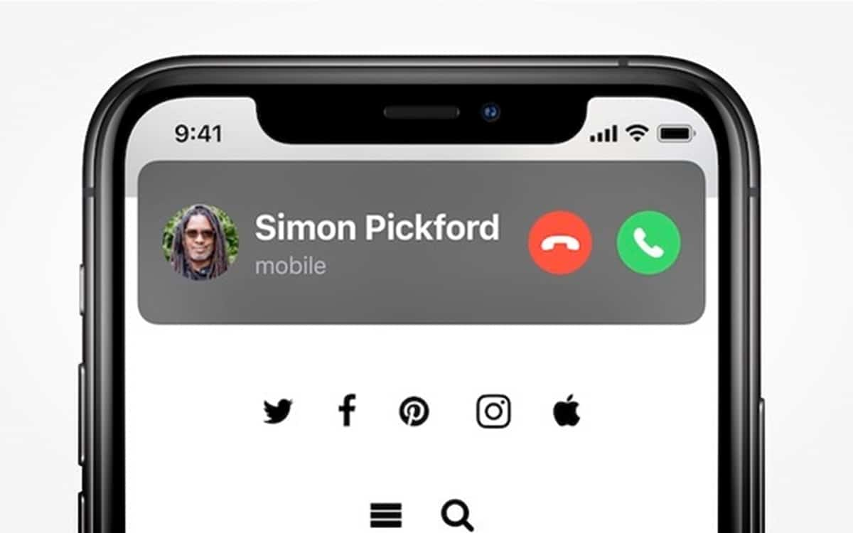 ios 14 appels notifications