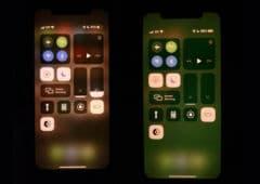 iphone onze bug ecran filtre vert