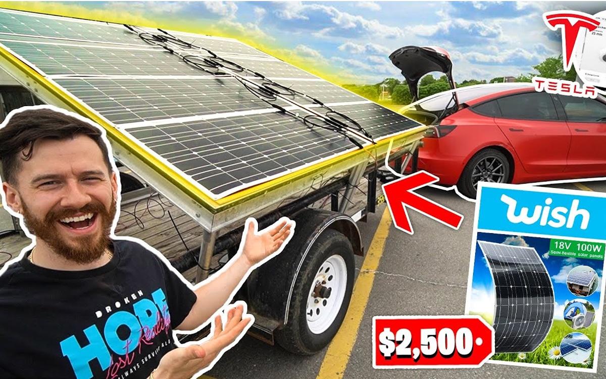 tesla panneau solaire