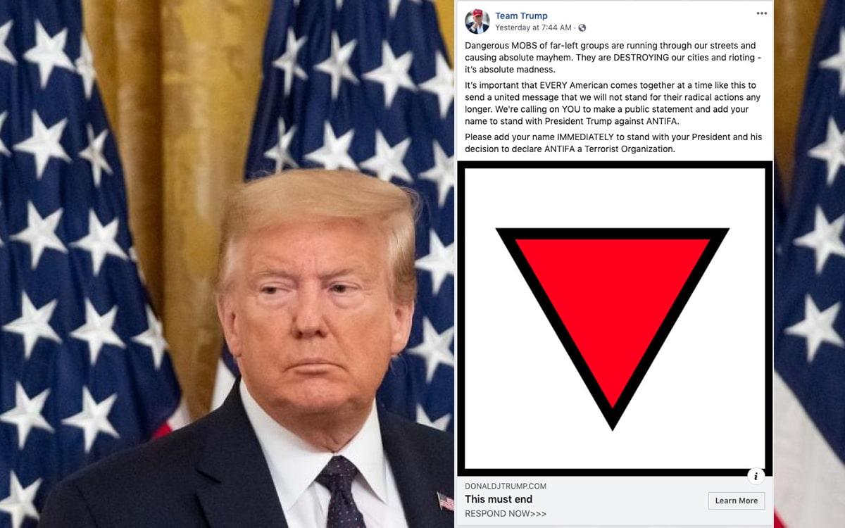 trump facebook censure nazi