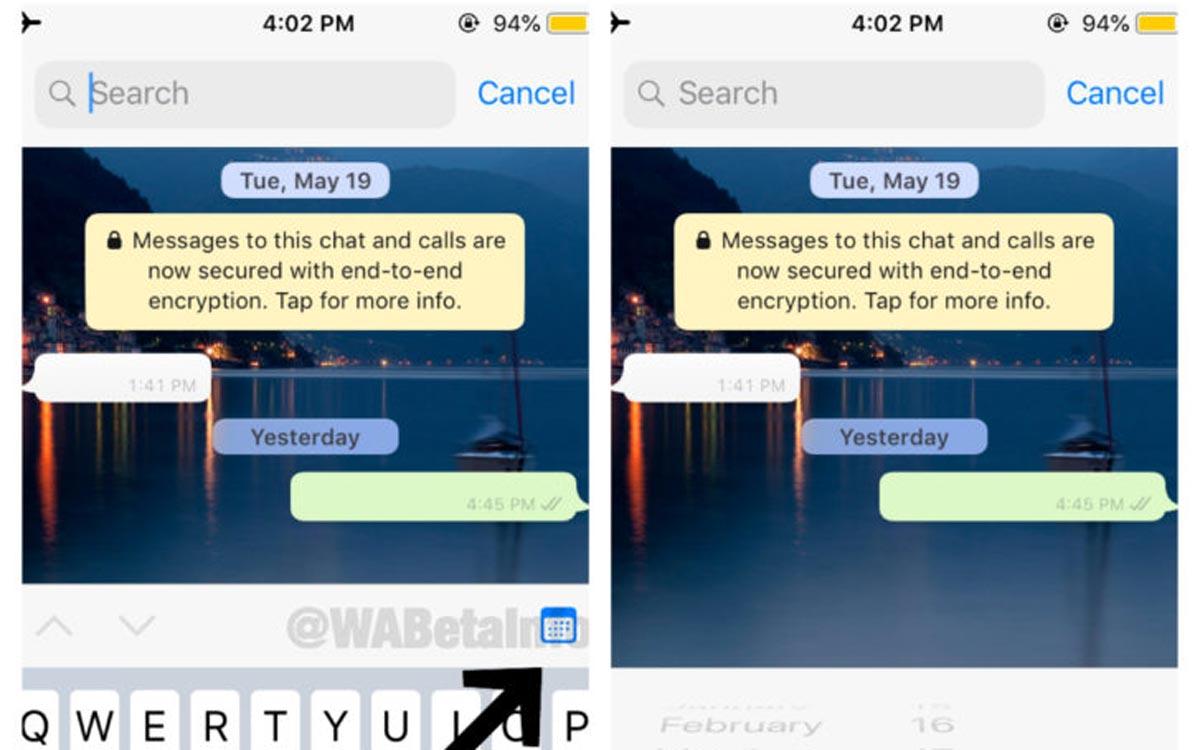 WhatsApp : un filtre pour la recherche des messages