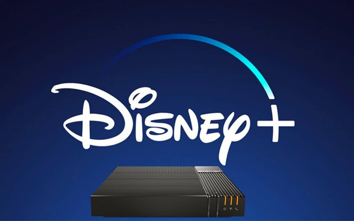 Disney+ box Orange Livebox
