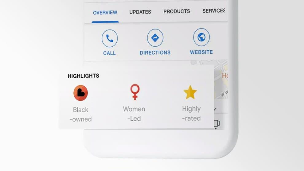 Google badge commerces afro-américains
