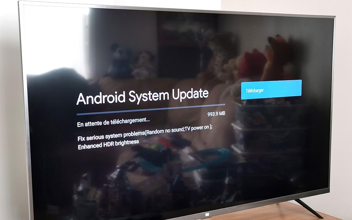 Xiaomi Mi TV 4S mise à jour systeme