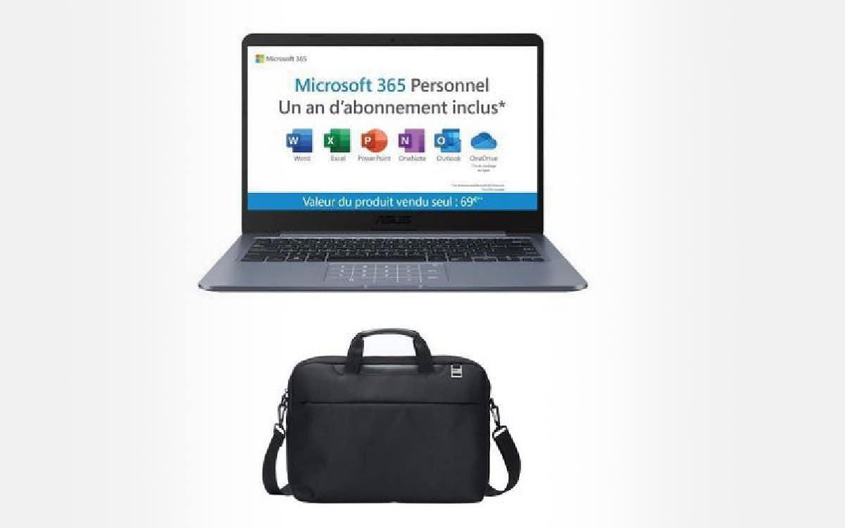 PC portable Asus E406MA-BV901TS + sacoche + Microsoft 365 Personnel