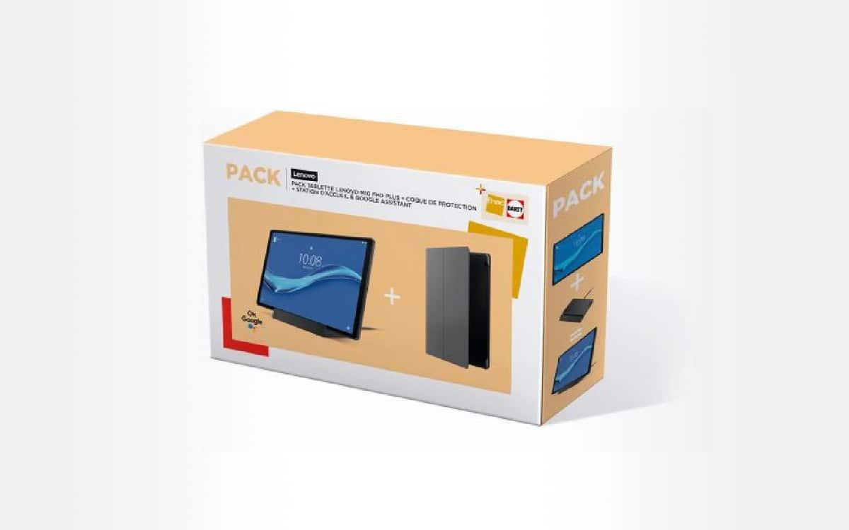 Pack tablette tactile Lenovo Tab M10 Wifi Gris + coque de protection + station d'accueil