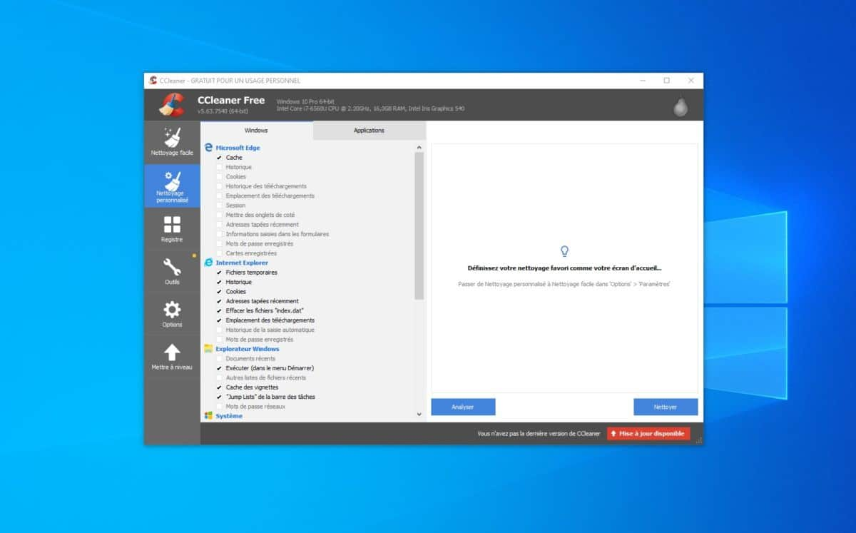 Windows 10 CCleaner