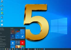 Windows 10 fete 5 ans