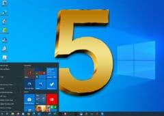 Windows 10 fete 5 ans