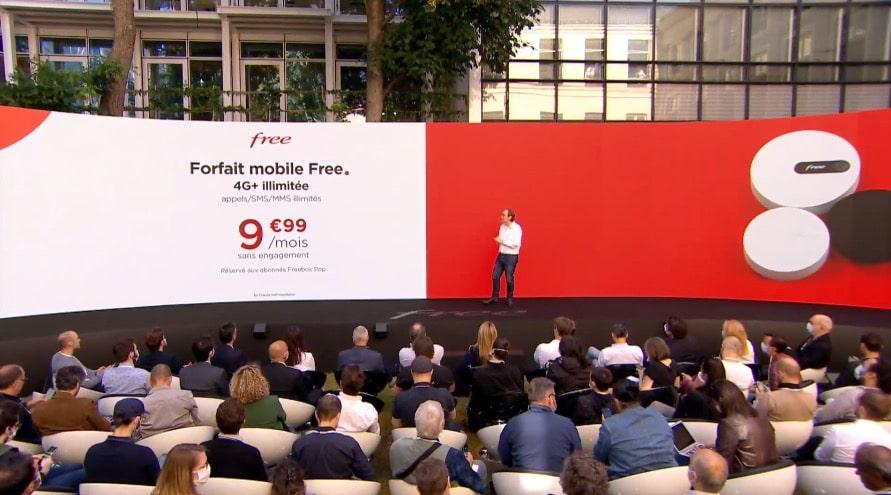 Forfait mobile Free 4G+ illimité à 9,99 € par mois pour abonnés Freebox Pop
