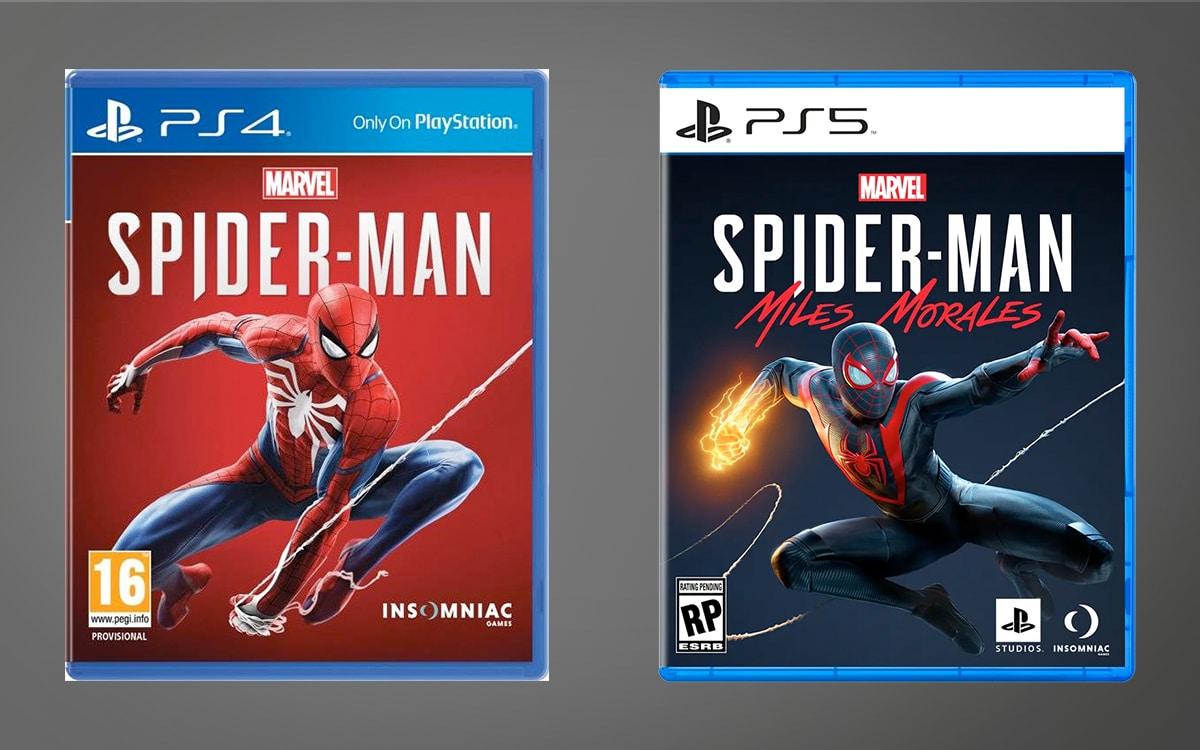 Boite jeu PS4 vs PS5