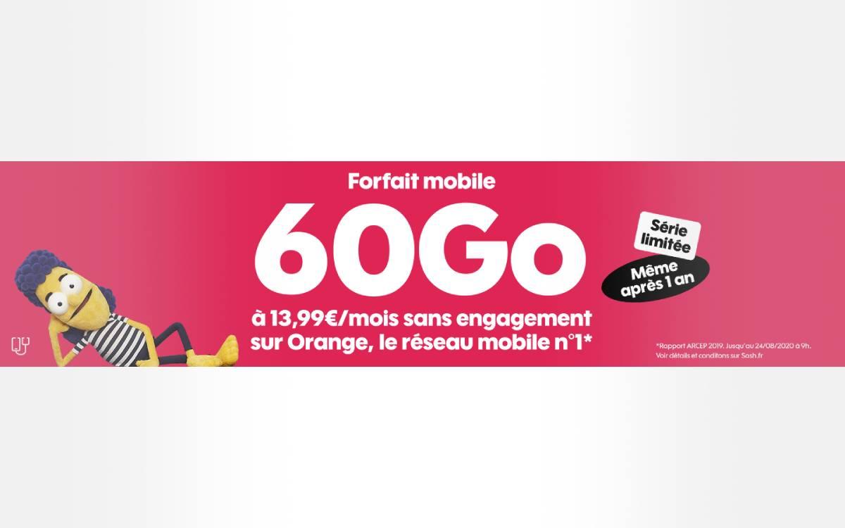 forfait Sosh 60 Go pas cher