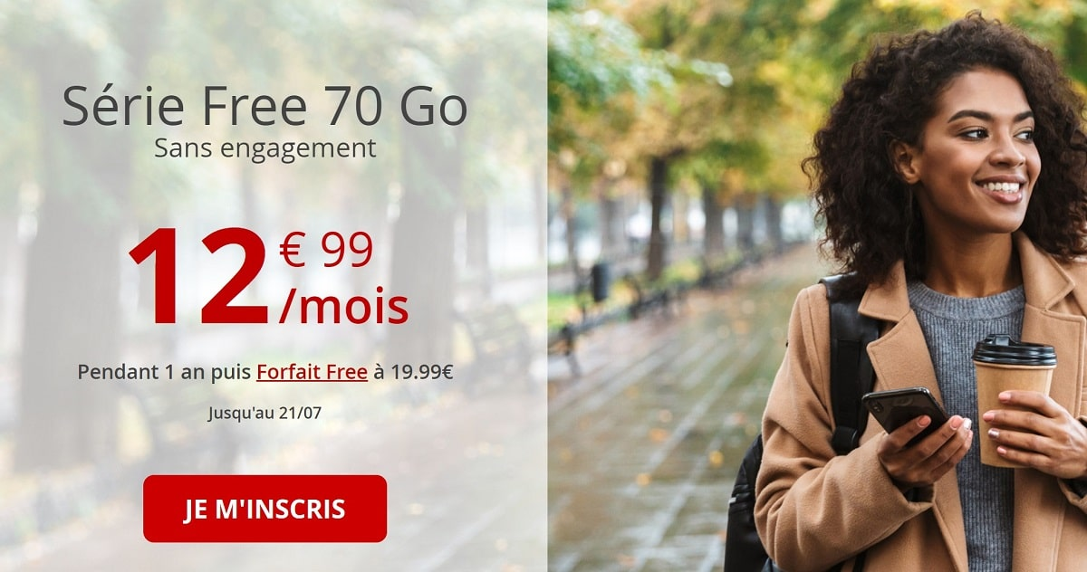 forfait free mobile 70 Go