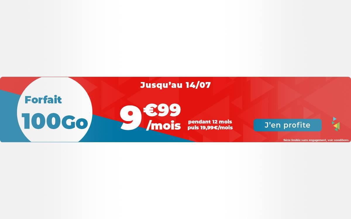 Auchan Télécom propose un forfait mobile qui vaut le coup : 100 Go à seulement 9,99€