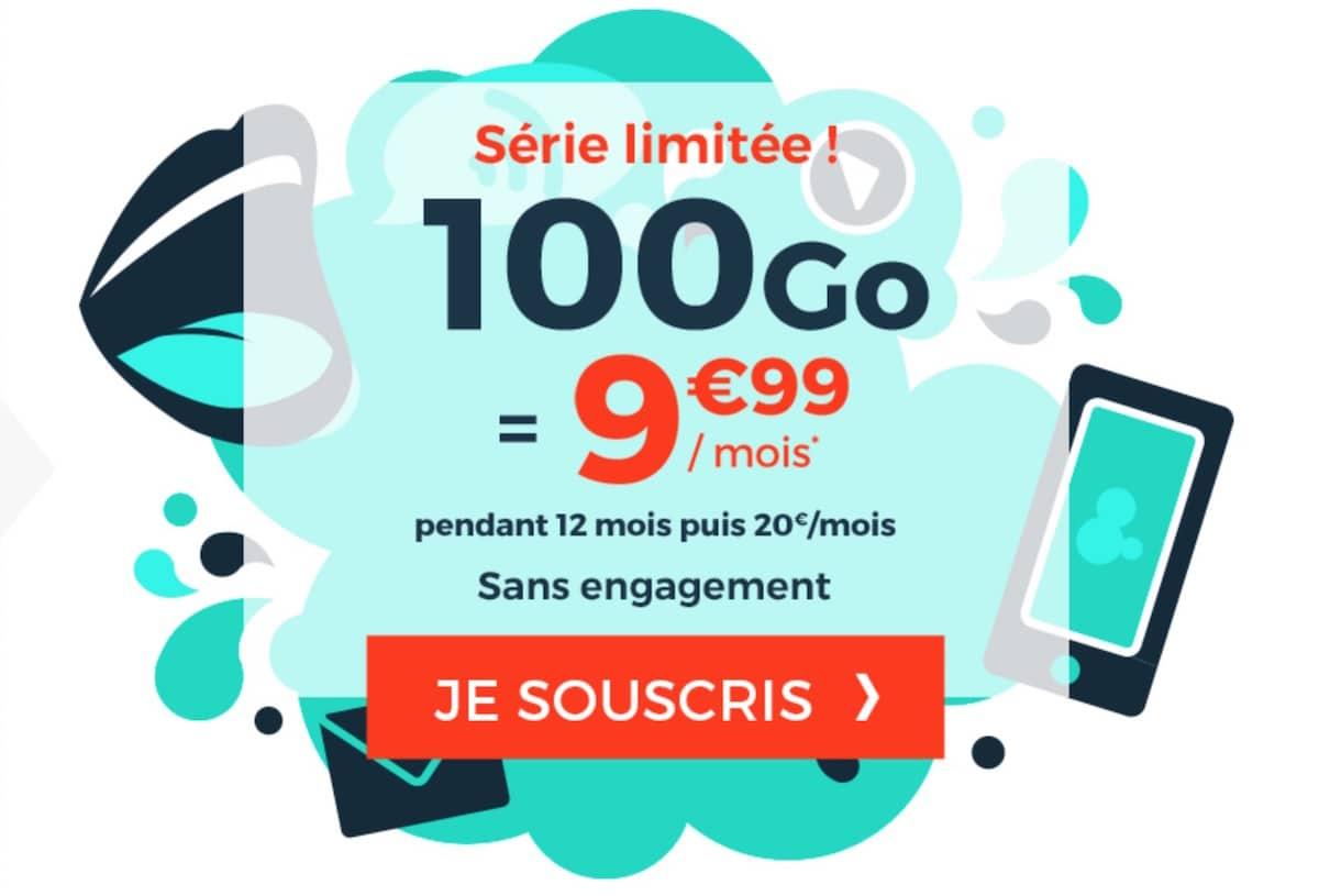 forfait mobile Cdiscount 100 Go pas cher