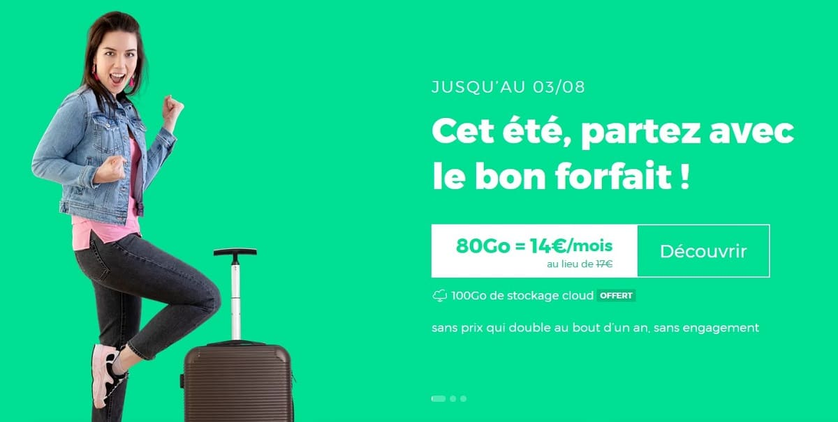 Forfait mobile RED by SFR 80 Go à 14 €