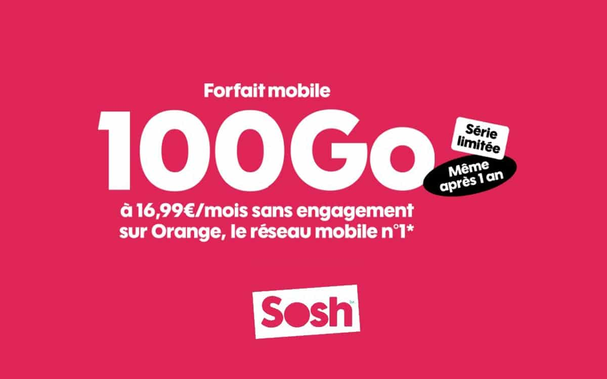 Sosh 100 GB mobile plan