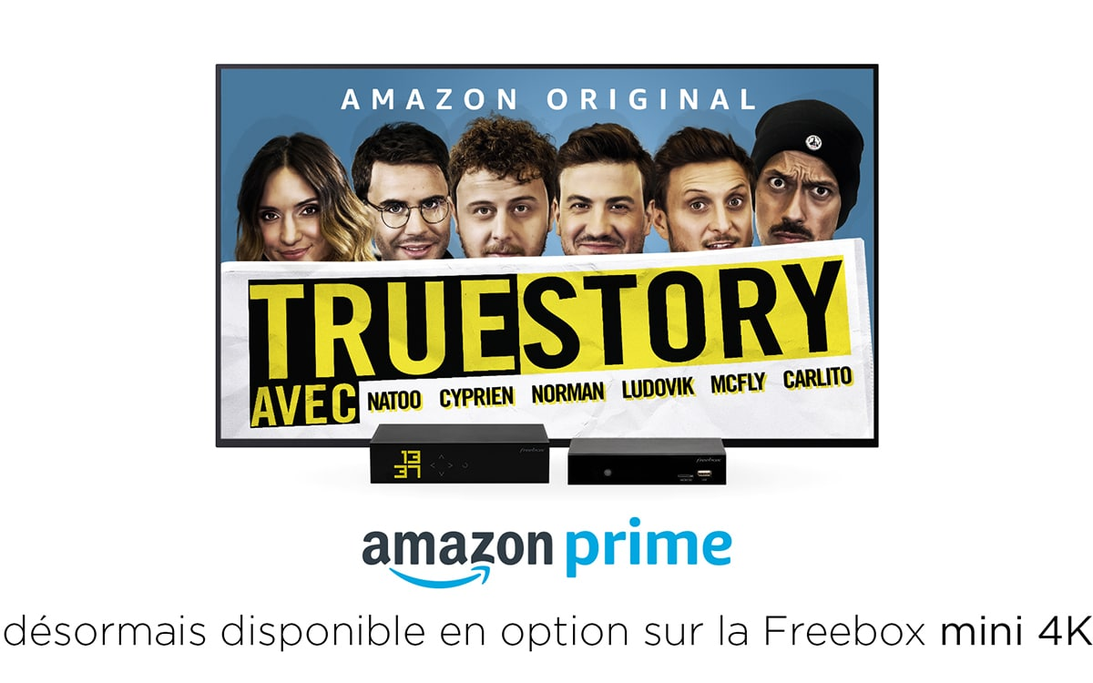 freebox mini 4K amazon prime video option