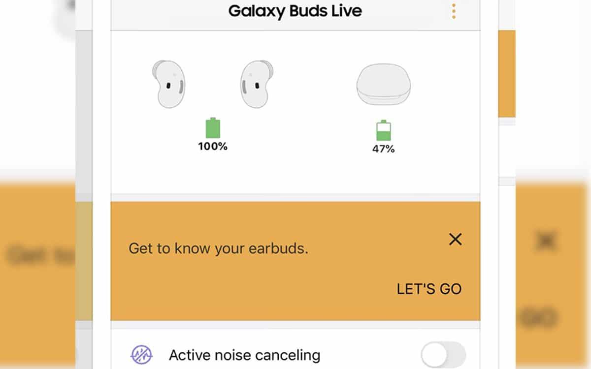 galaxy buds live réduction bruit active confirmé