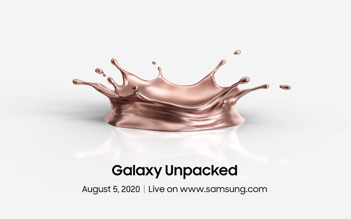 galaxy note 20 conférence unpacked 5 août 2020