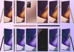 galaxy note 20 ultra images officielles coloris