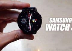 galaxy watch 3 vidéo prise main