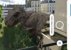 google dinosaure realite virtuelle