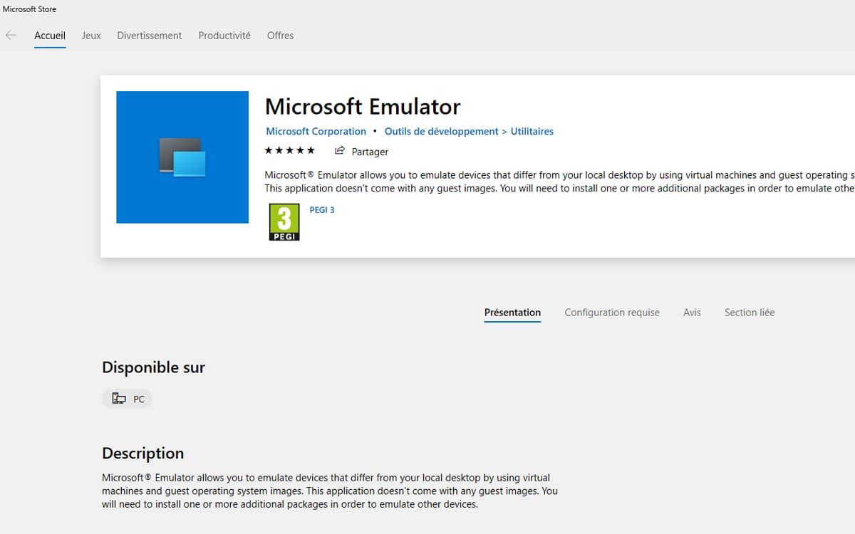 microsoft emulator