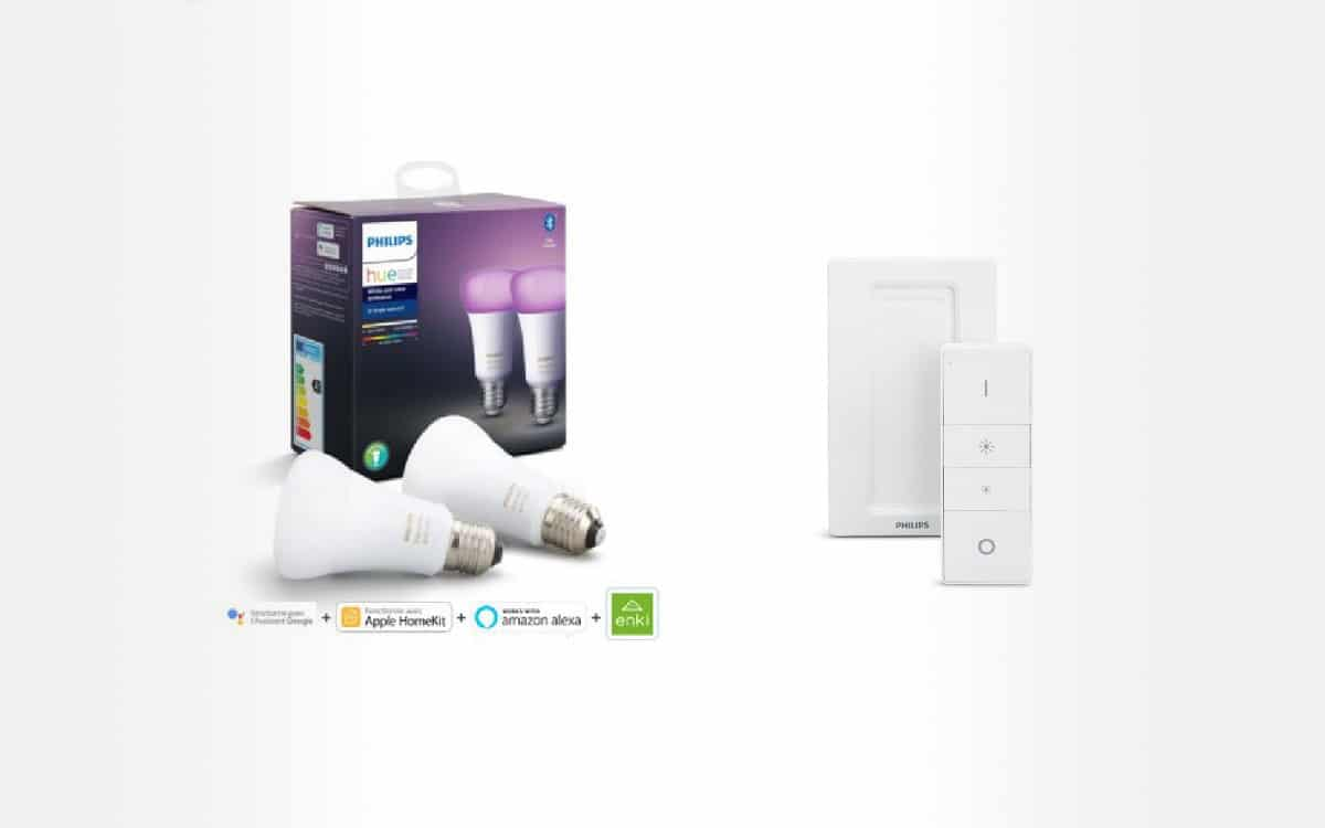 Philips hue pack 2 bulbs and remote control