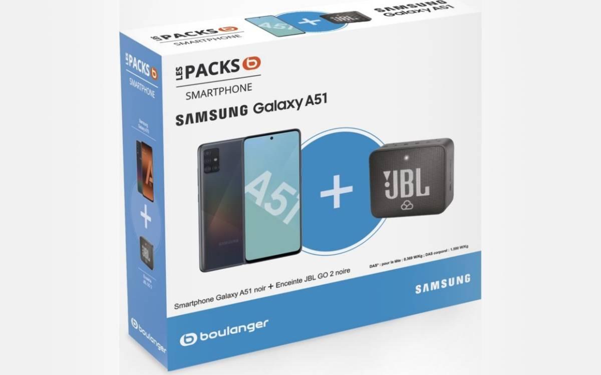 pack Samsung Galaxy A51 enceinte JBL Go 2 pas cher