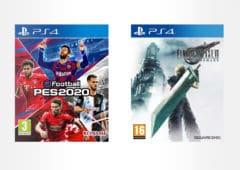 pes 2020 et Final fantasy 7 remake sur PS4